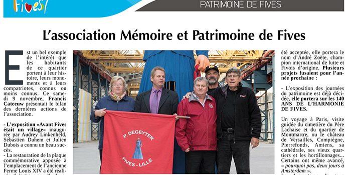L'association Mémoire et Patrimoine de Fives